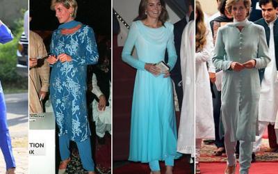 Tur ke Pakistan, Gaya Busana Kate Middleton Mirip Putri Diana