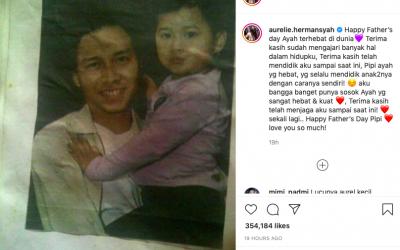 Father's Day, Aurel Ungkapkan Kebanggaan pada Anang Hermansyah