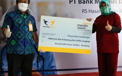 Lawan Corona, Bank Mantap Serahkan APD ke RS Dokter Hasan Sadikin