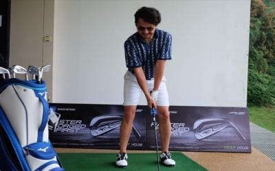 Yuk, Intip Tampilan Superkeren Ananda Omesh saat di Lapangan Golf