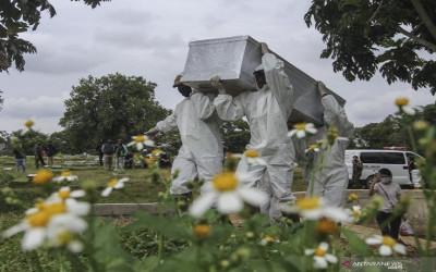 Dibuka Pemakaman Baru Jenazah Covid-19 di TPU Bambu Apus