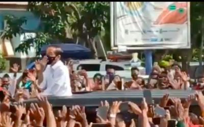 Jokowi Timbulkan Kerumunan Massa, IPW Buat Kapolri Terpojok!