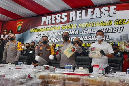 Aksi Senyap Polri Mematikan, 310 Kg Sabu Senilai Rp400 M Disita
