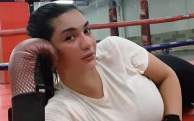 Brutal di Atas Ring, Siva Aprilia Luapkan Hasrat Saat Kick Boxing