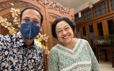 Analisisnya Salah Lagi, Nadiem-Megawati-PDIP Akrab Banget