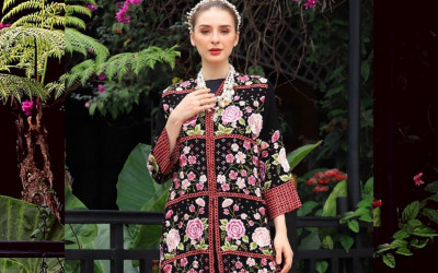 Keren! Roemah Kebaya Vielga Tampilkan Bordir Bunga Indonesia