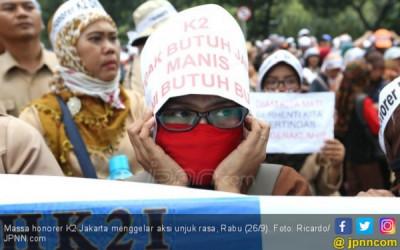 Mau Perpanjangan Kontrak, Honorer K2 di Jakarta Disuruh Masuk Got