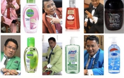 Cosplay Hand Sanitizer Ala Hotman Paris, Bikin Netizen Ngakak...