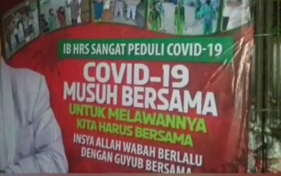 Bikin Bergetar! Baliho Habib Rizieq Lawan Covid-19 Dicopot TNI