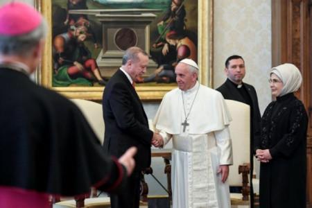 Turki Dukung Palestina, Endorgan Minta Bantuan Paus Fransiskus
