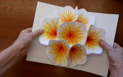 Hari Raya Waisak, Yuk Buat Kartu Pop Up Bunga Teratai yang Mantul