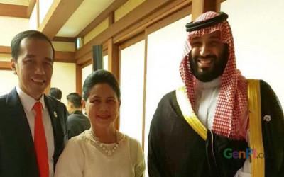 Di KTT G20 Osaka, Jokowi-Iriana Foto Bareng Putra Mahkota Arab