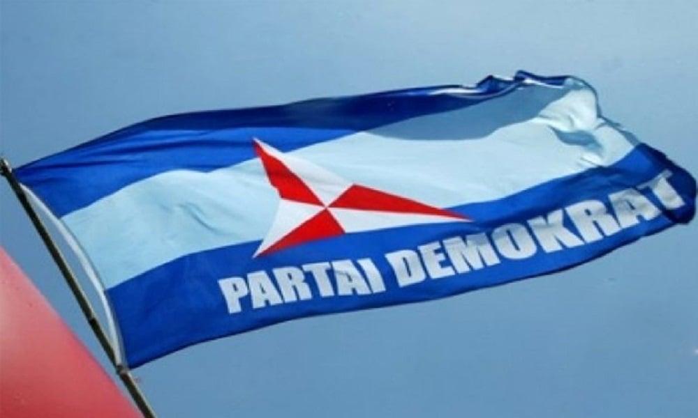 Ilustrasi bendera Partai Demokrat. FOTO: Antara