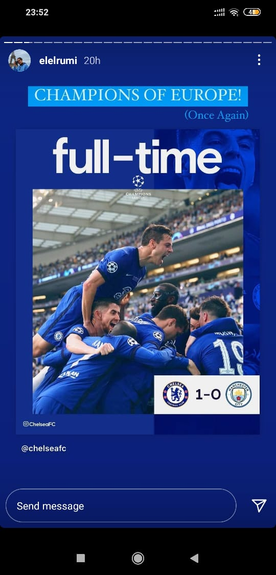 Gema Chelsea Juara Liga Champions, Musisi Ini Senang Bukan Main