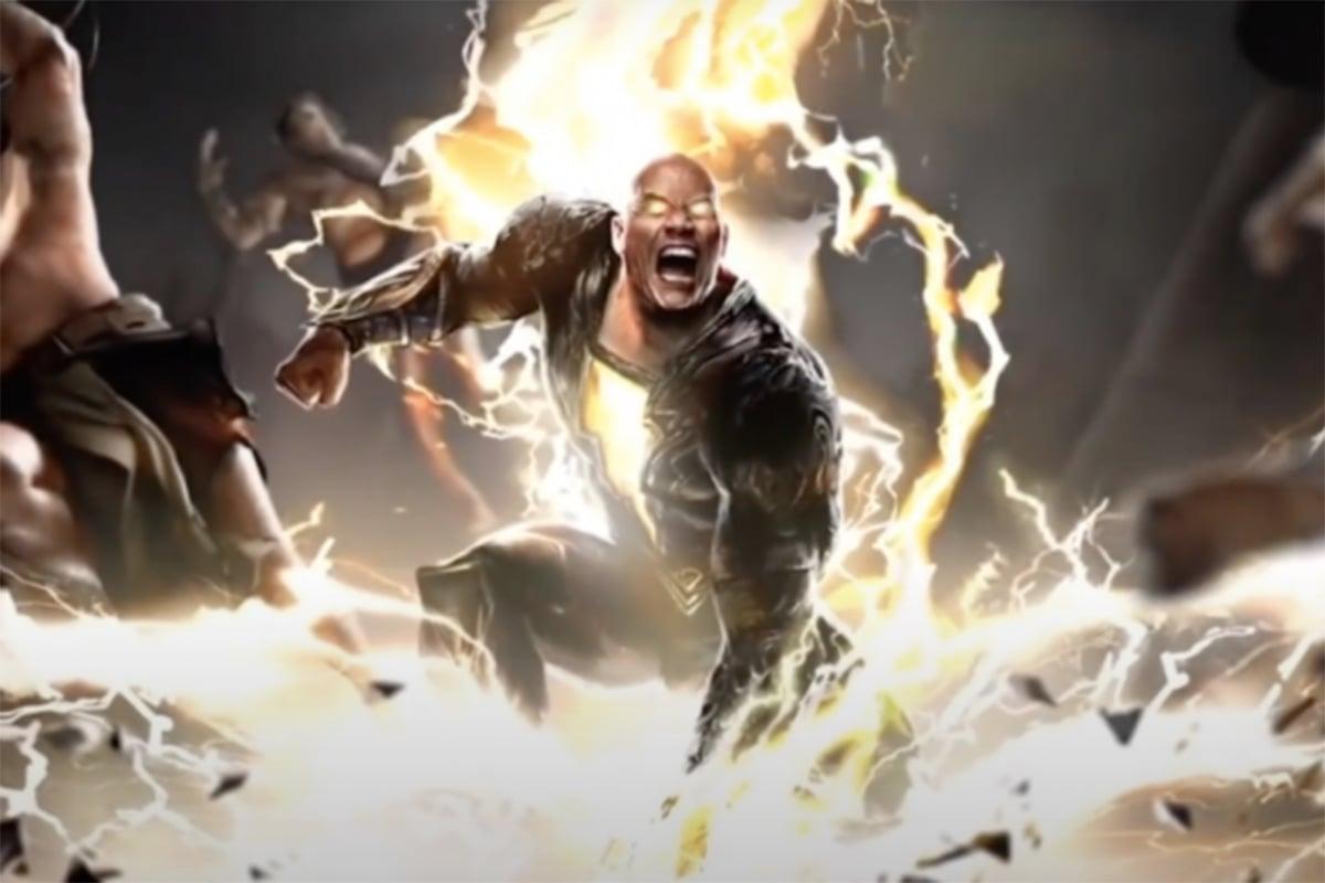 Black Adam dalam konsep trailer yang dirilis pada DC Fandom 2020. Foto: Youtube/DC