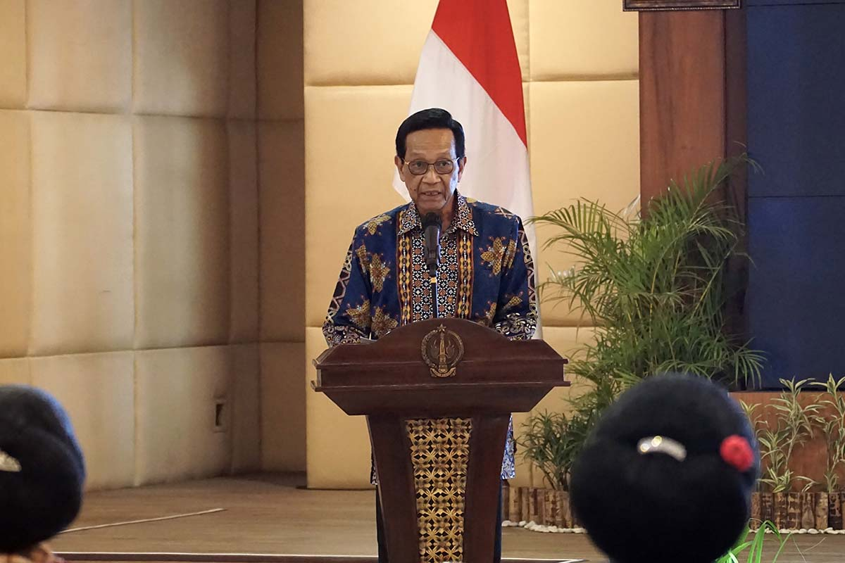 Gubernur Daerah Istimewa Yogyakarta (DIY) Sri Sultan Hamengku Buwono X.(Foto: Humas Pemda DIY)