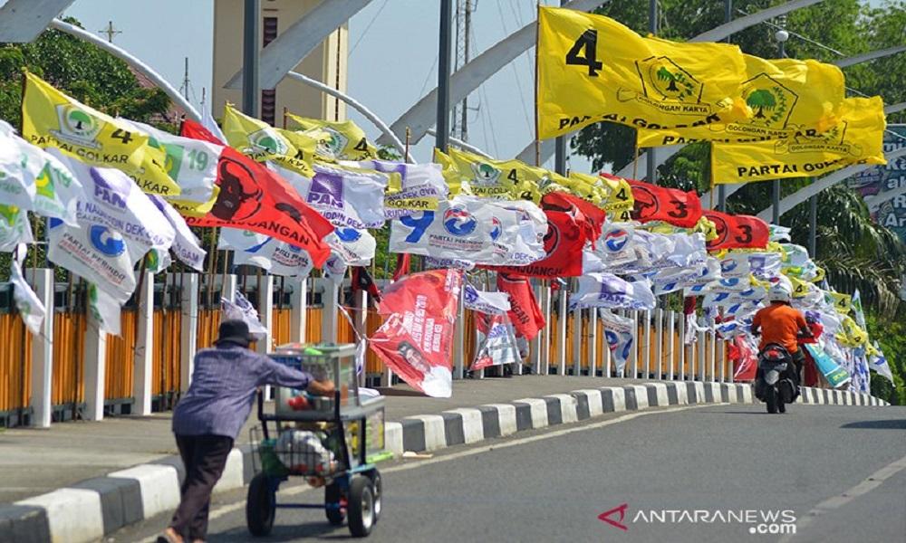 Ilustrasi bendera partai politik. FOTO: Antara