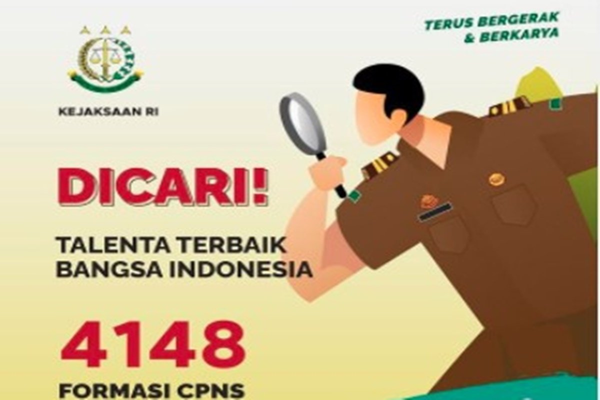 Kejaksaan membuka 4.148 formasi CPNS di seleksi 2021 (grafis: SC IG @biropegkejaksaan)