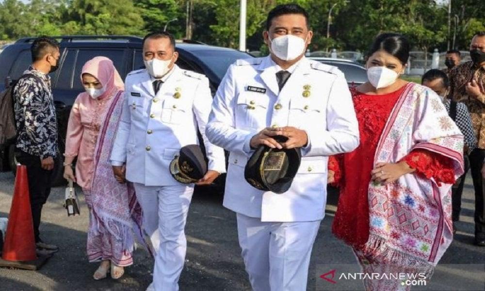 Wali Kota dan Wakil Wali Kota Medan, Bobby Nasution-Aulia Rachman. FOTO: Antara