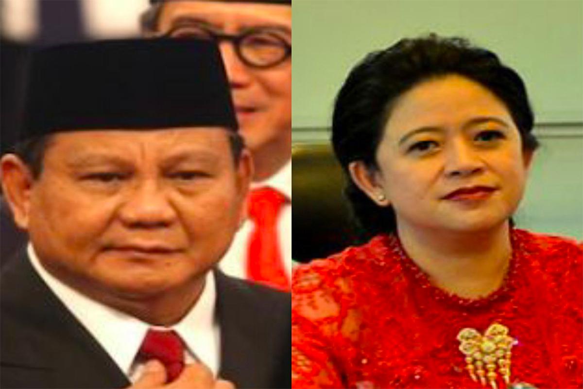Prabowo Subianto dan Puan Maharani. Foto: JPNN/GenPI.co