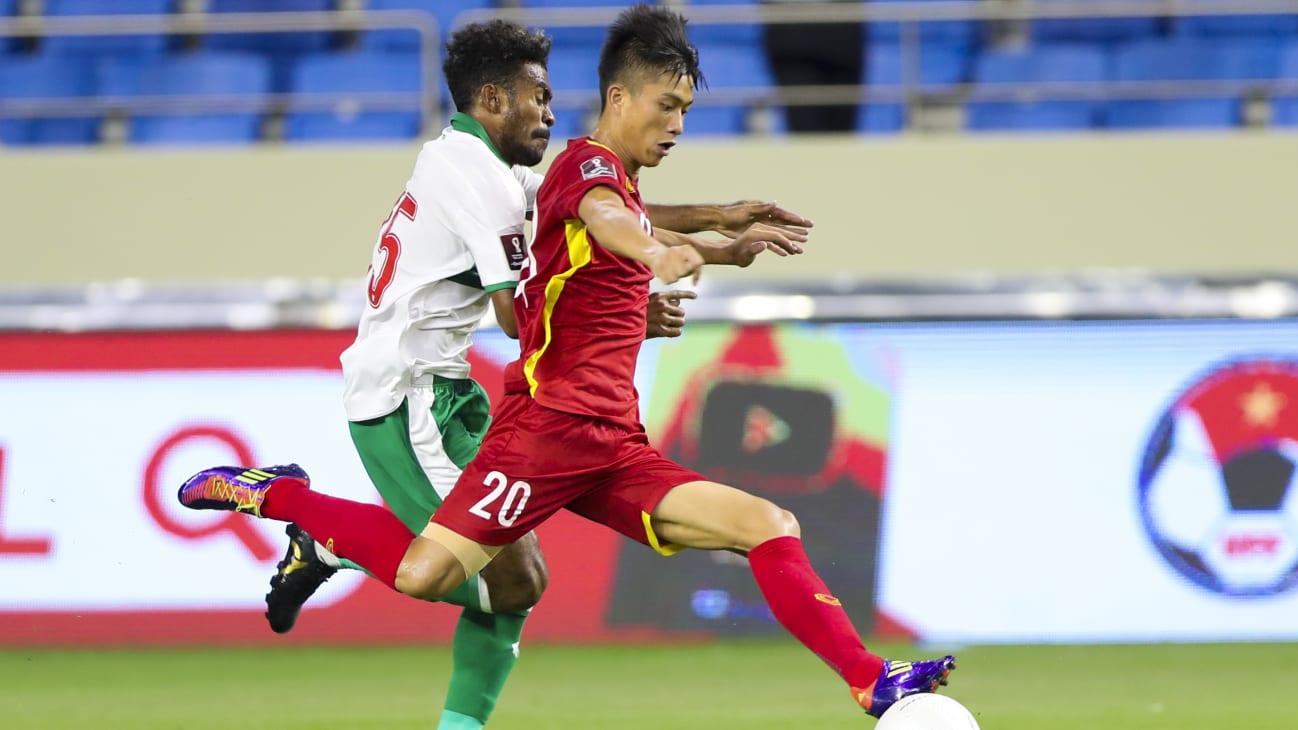 Usai sukses mengandaskan perlawanan Timnas Indonesia, para pemain Vietnam dikabarkan mendapatkan telepon dari Presiden. (foto: AFC)