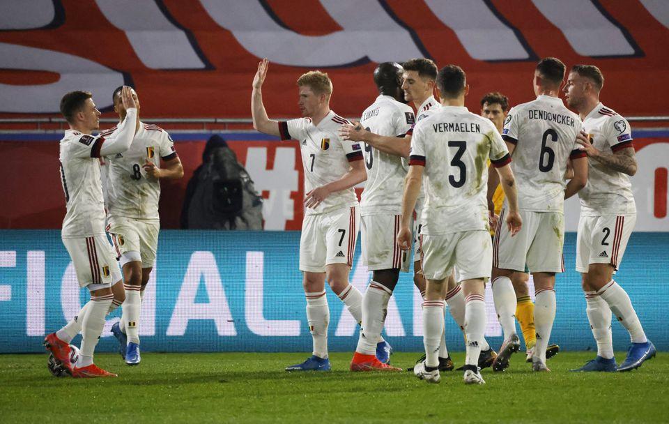 Berikut ini adalah prediksi pertandingan Piala Eropa 2020 yang akan mempertemukan Belgia vs Rusia pada Minggu (13/6) pukul 02:00 WIB. (foto: REUTERS/Pascal Rossignol)