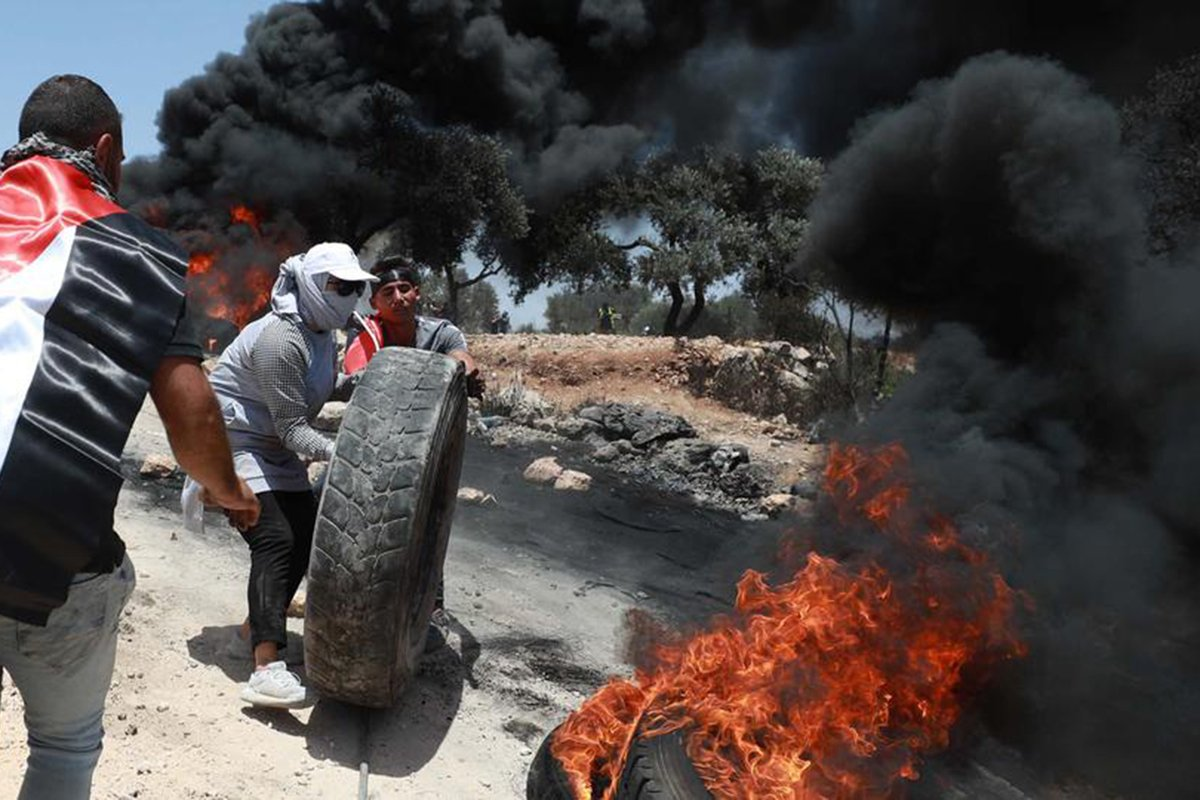 Israel kembali melancarkan serangan kejam terhadap Palestina Foto: trtworld