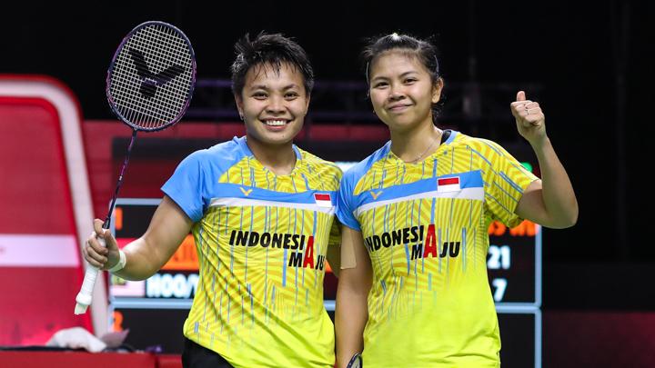 Mendekati turnamen akbar sedunia, Olimpiade Tokyo 2020, ganda putri Greysia Polii/Apriyani Rahayu ditandingkan dengan ganda putra. (foto: BadmintonPhoto)