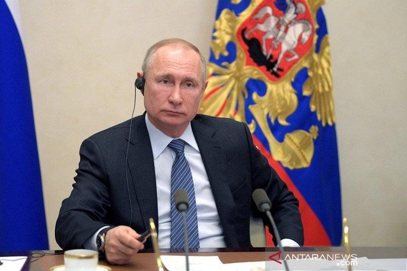 Presiden Rusia Vladimir Putin. (Foto: Antara/Sputnik/Kremlin via Reuters/pras.)