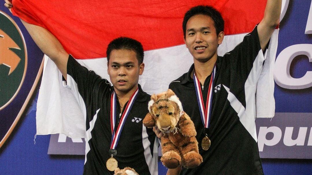 Menghujam nurani, Hendra Setiawan memberikan sebuah pesan terakhirnya kepada Markis Kido. (foto: Badminton Photo)