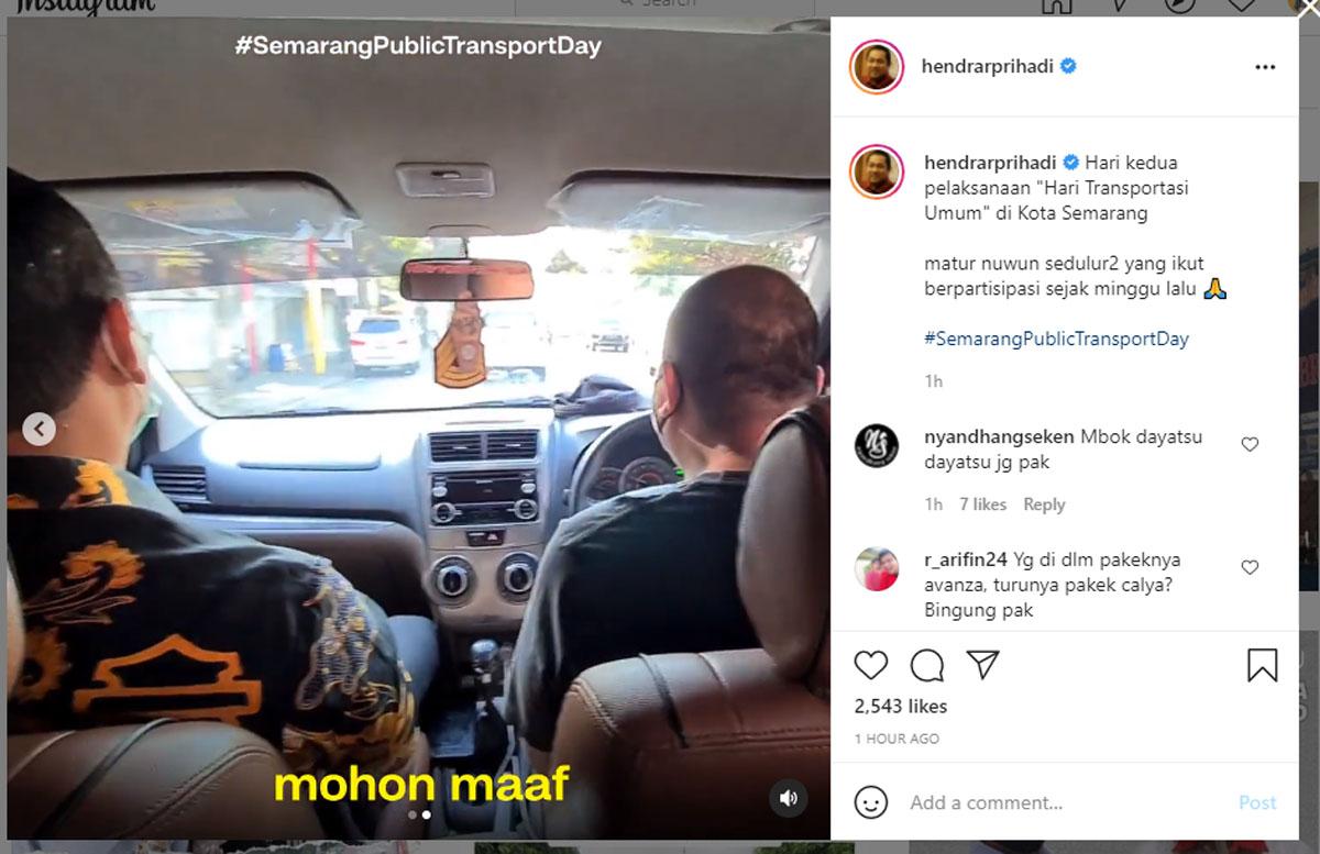 Wali Kota Semarang Kaget, Naik Taksi Sopirnya Covid-19