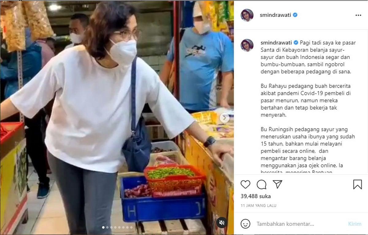 Sri Mulyani. Foto: Instagram Sri Mulyani Indrawati (@smindrawati)