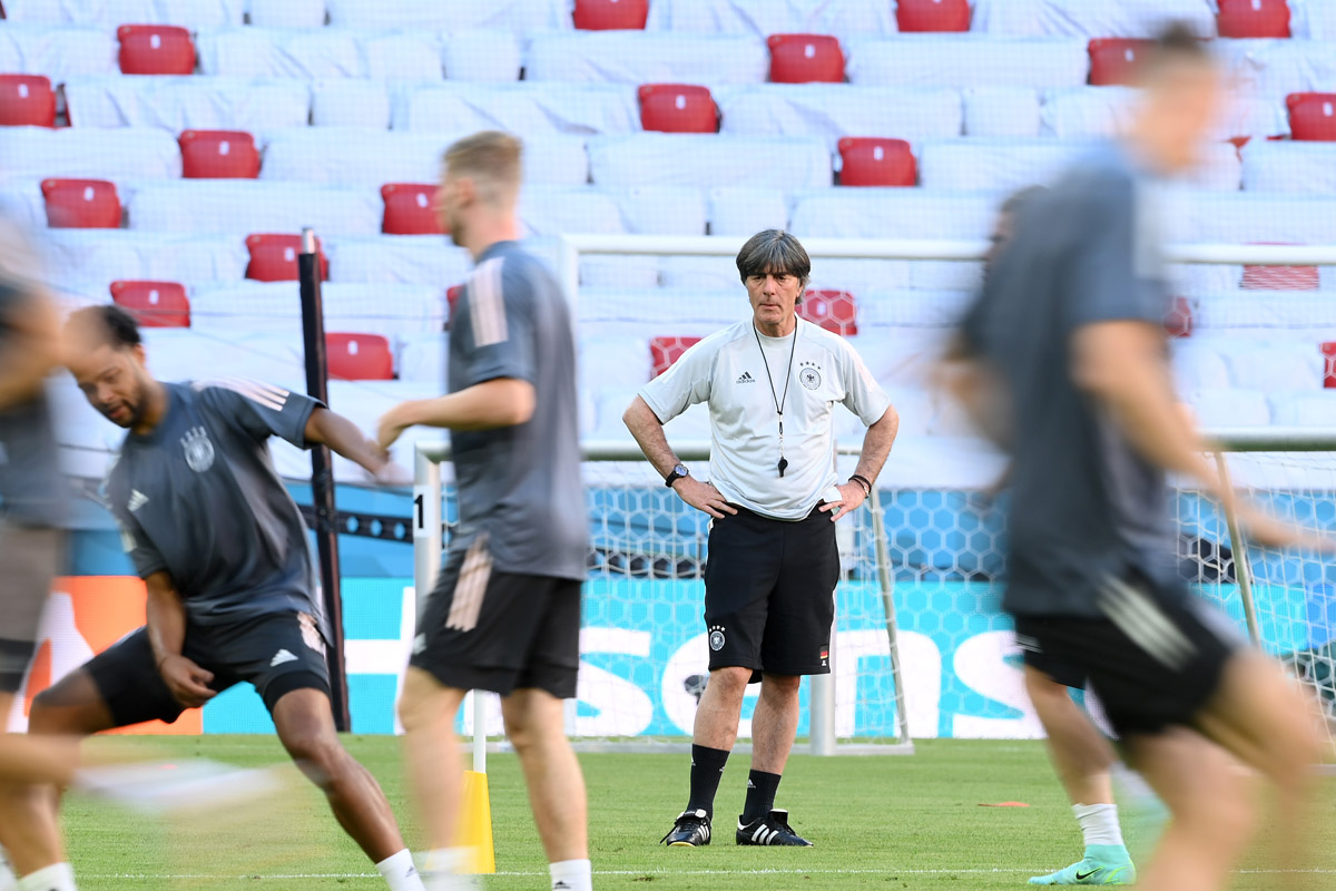 Timnas Jerman berlatih menjelang melawan Prancis. Foto: Twitter/DFB_Team_En
