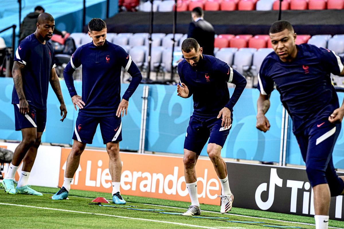 Timnas Prancis berlatih menjelang melawan Jerman pada Piala Eropa 2020. Foto: Twitter/@equipedefrance