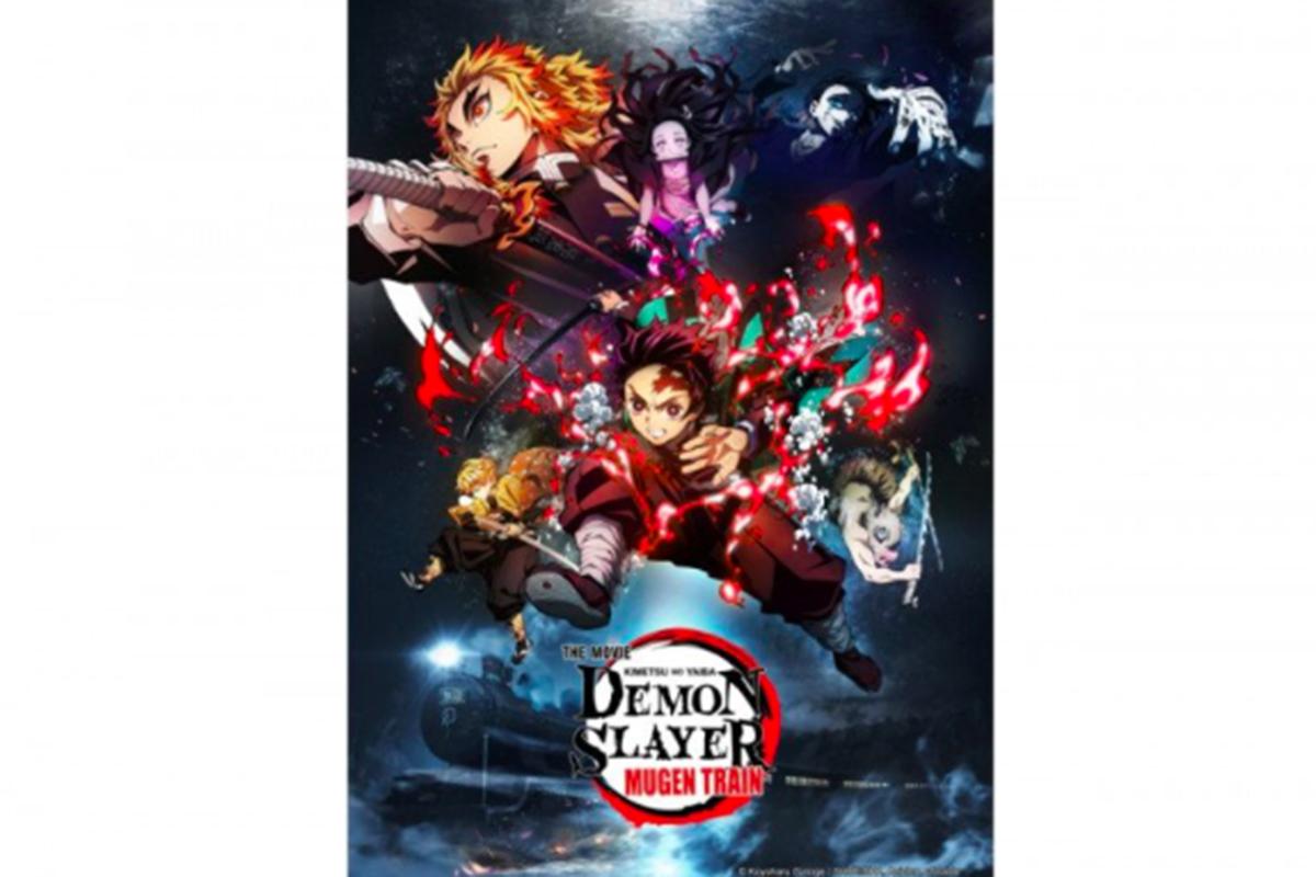 Poster film Demon Slayer: Kimetsu no Yaiba The Movie: Mugen Train (2020). Foto: Antara/Viu