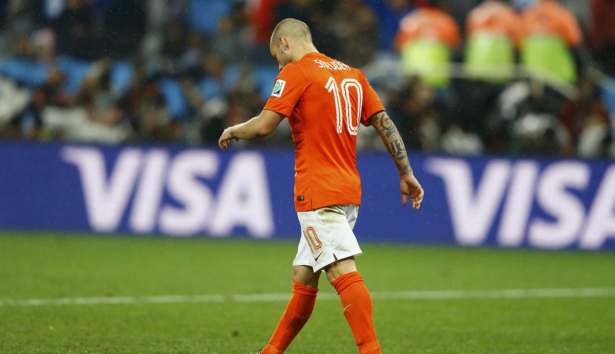 Legenda Belanda, Wesley Sneijder, buka-bukaan dengan mengungkapkan bahwa dirinya merasa terhina melawan Timnas Indonesia. (foto: Reuters/Dominic Ebenbichler)