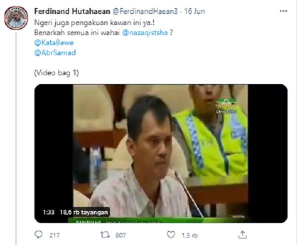 Ferdinand Unggah Pengakuan Mantan Anak Buah Novel, Bilang Ngeri!