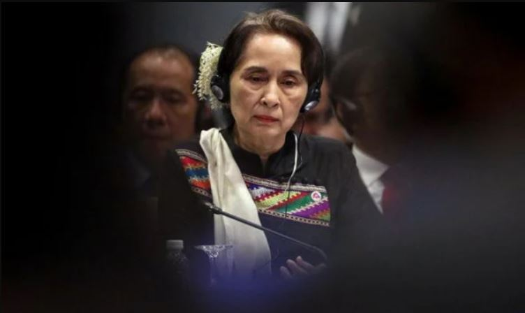 Lautan Bunga di Myanmar, Ternyata Aung San Suu Kyi...