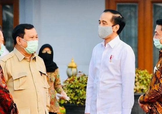 Prabowo Subianto dan Jokowi. Foto : Instagram @jokowi
