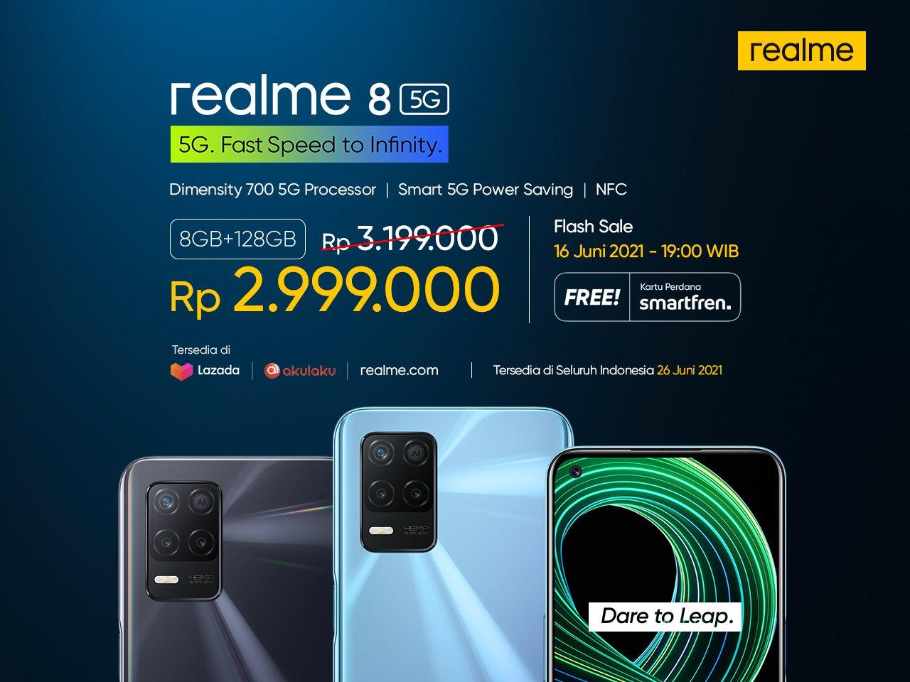 Sudah 5G! Fitur Realme 8 Menakjubkan, Harga Ramah Kantong
