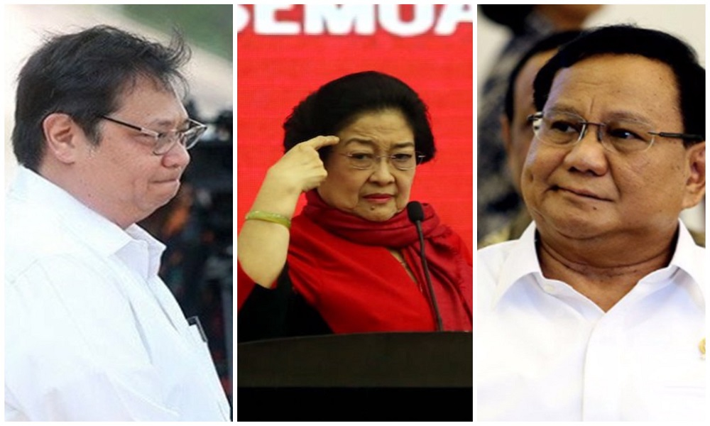 Harta kekayaan Airlangga Hartanto, Megawati Soekarnoputri, dan Prabowo Subianto. Foto : JPNN