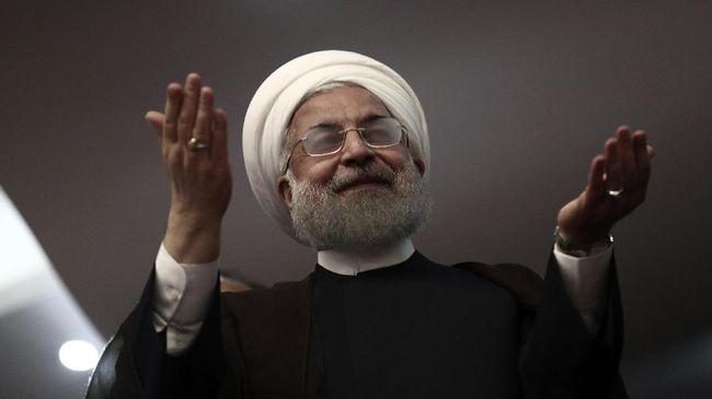 Presiden Iran Ebrahim Raisi. (AFP PHOTO / Behrouz MEHRI)