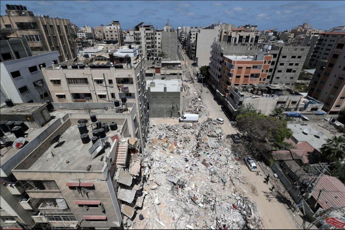 Kondisi Jalur Gaza setelah diserang oleh militer Israel pada perang 11 hari. (Foto: Mohammed Salem/Reuters)