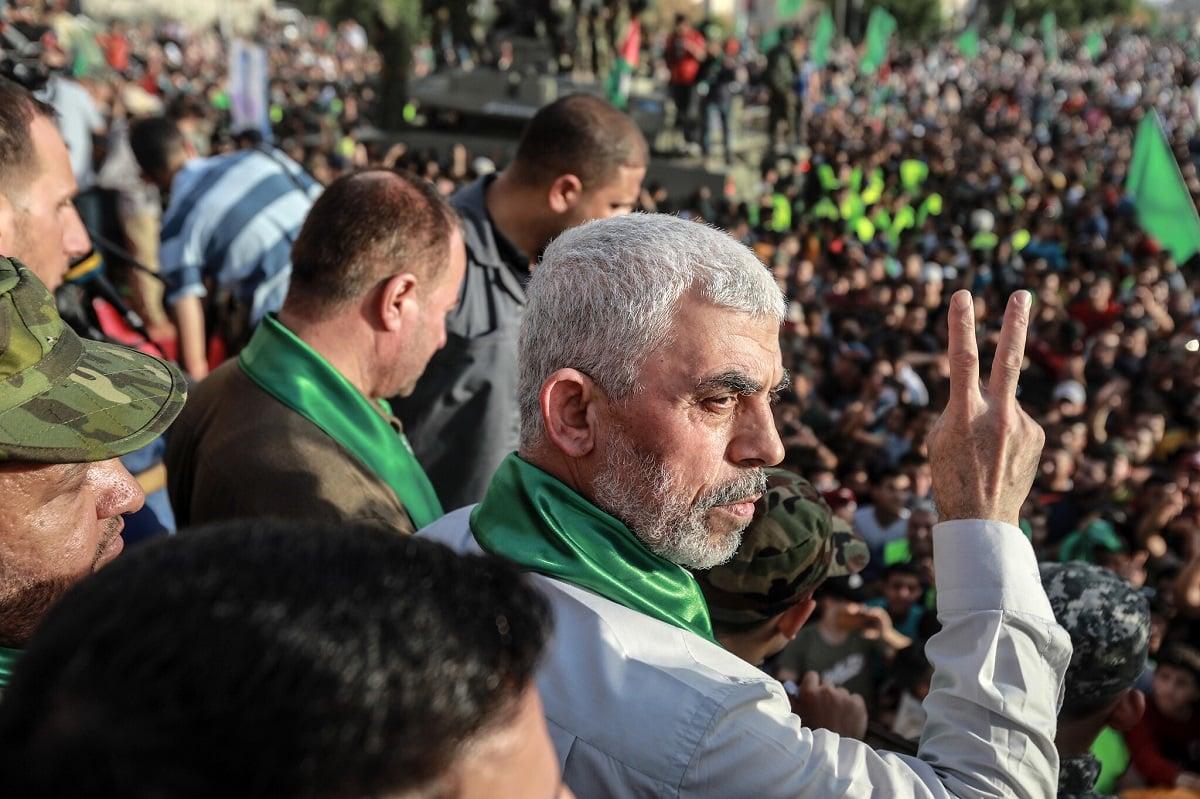 Pemimpin Hamas di Jalur Gaza, yahya Sinwar.(Foto: Atia Mohammed/Flash90)
