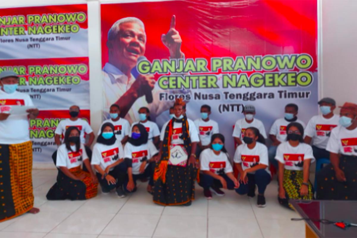 Warga Nagekeo memberi dukungan untuk Ganjar Pranowo. Foto: JPNN