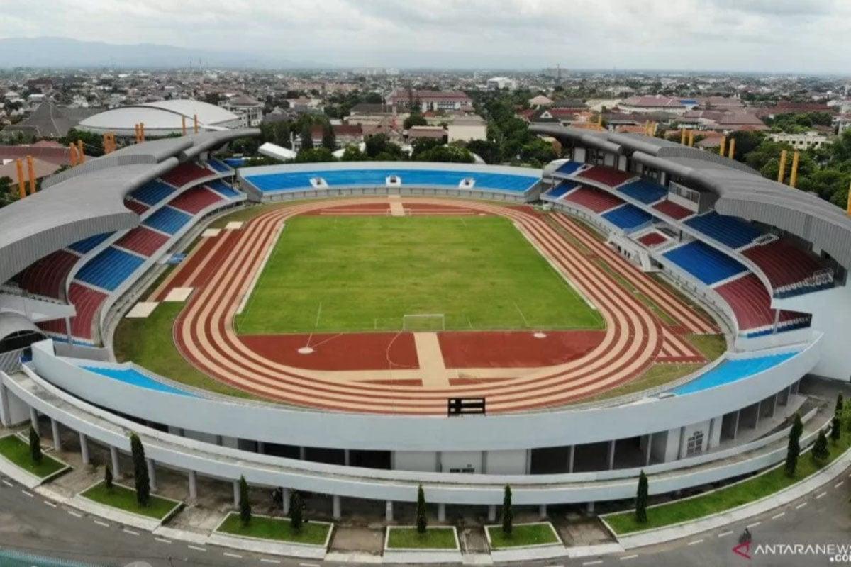 Foto aerial Stadion Mandala Krida di Baciro, DI Yogyakarta, Kamis (30/1/2020). (Foto: Antara/Hendra Nurdiyansyah)