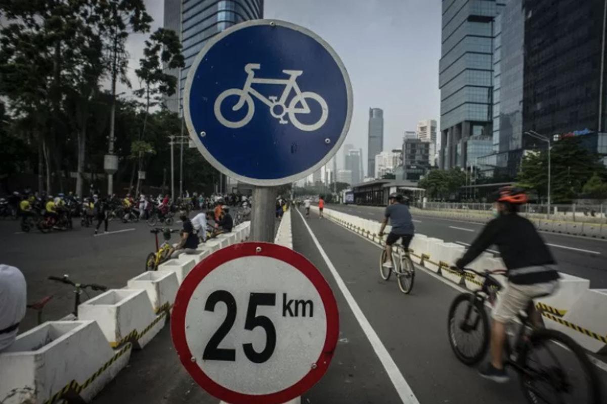 Ilustrasi jalur sepeda. Foto: Antara