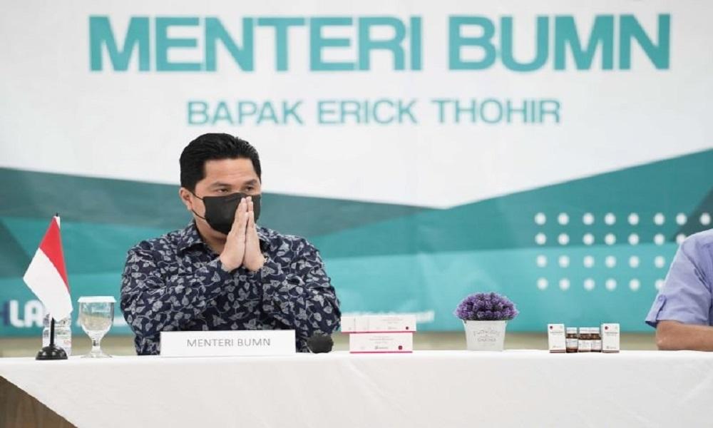 Menteri BUMN Erick Thohir. FOTO: Antara