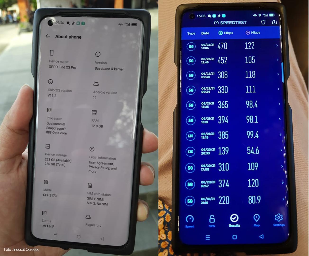 Smartphone OPPO 5G. Foto: PR OPPO