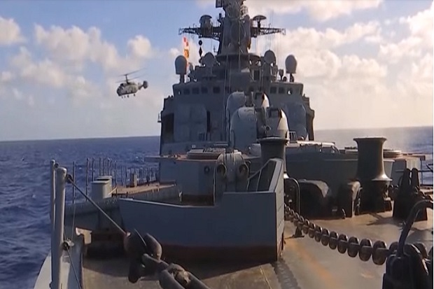 Kapal-kapal perang Rusia melakukan latihan perang besar-besaran di dekat Hawaii. Foto: Kementerian Pertahanan Rusia